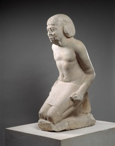 D6 statue of a bound captive from the Metropolitan Museum, New York.